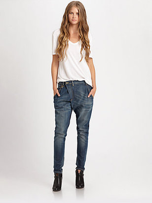 R 13 X-Over Skinny Jeans