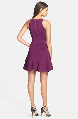 Milly Paneled Knit Fit & Flare Dress