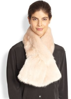 Saks Fifth Avenue Donna Salyers for Faux Fur Scarf