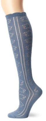 PACT Women's Denim Pointelle Knee Sock
