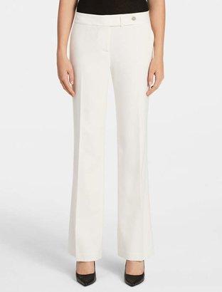 Calvin Klein essential straight cream suit pants
