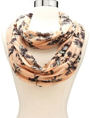 Charlotte Russe Floral Jersey Infinity Scarf