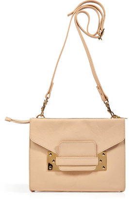 Sophie Hulme Nude Leather Convertible Mini Envelope Clutch