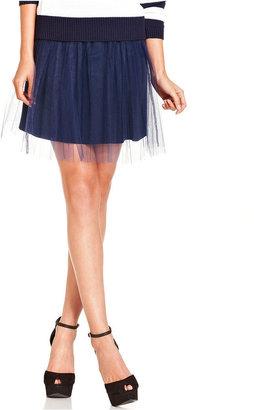 Monroe Marilyn Juniors Skirt, Tulle A-Line Mini