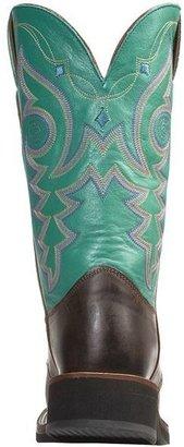 Justin Boots Vintage Goat Cowboy Boots - J-125 Square Toe (For Women)