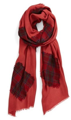Nordstrom Plaid Patch Scarf