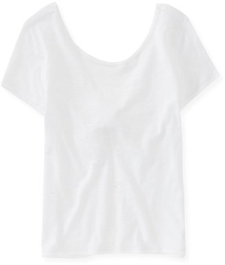 Aeropostale Knot-Back Cropped Top