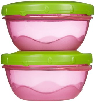 Playtex Baby Snack Bowls with Twist N Click - Colors May Vary - 2 ct