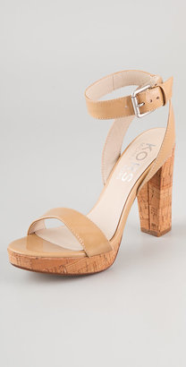 KORS Melbourne Ankle Strap Sandals