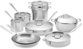 All-Clad Tri-Ply Stainless-Steel 15-Piece Cookware Set