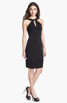 David Meister Front Keyhole Jersey Sheath Dress