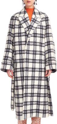 Christian Wijnants Jack Plaid Caban Coat