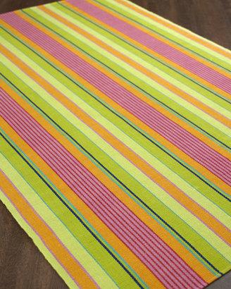 "Dash & Albert Summer Stripe"" Flatweave Rug"