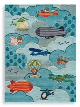 Momeni 'Lil Mo Whimsy 8-Foot x 10-Foot Area Rug in Sky