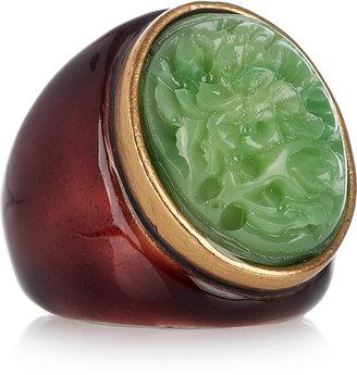 Oscar de la Renta 24-karat gold-plated cabochon ring