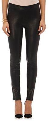 J Brand Women's Leather Pull-On Leggings-BLACK $948 thestylecure.com