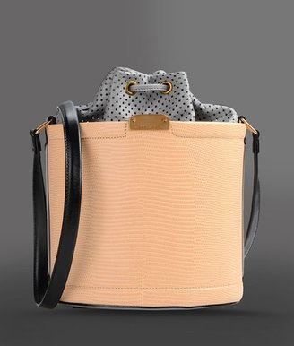 Emporio Armani Calfskin Bucket Bag With Inner Pouch