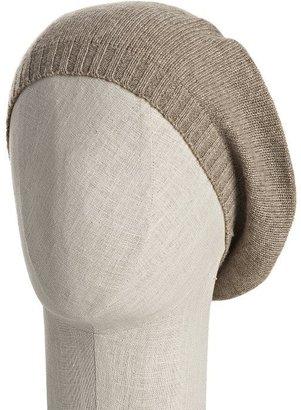 Portolano charcoal cashmere knit beret