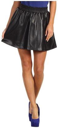 BCBGeneration Faux Leather A-Line Skirt (Black) - Apparel