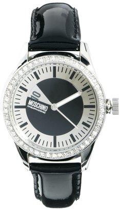 Moschino Cheap & Chic Disc Jockey Rhinestone Surround Watch