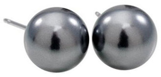 Carolee The Natalie Black Faux Pearl Stud Earrings