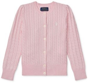 Polo Ralph Lauren Little Girls Cable-Knit Cotton Cardigan