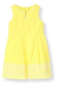 Janie and Jack Geo Embroidered Dress