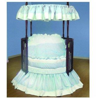 Baby Doll Bedding Regal Pique Round Crib Bedding Set - Blue