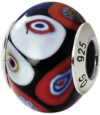 Murano Prerogatives Sterling Black Multi Italian Glass Bead