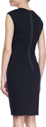 T Tahari Moxie Bicolor Sheath Dress