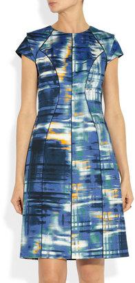 Lela Rose Printed cotton-blend dress