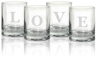 Mikasa Love Double Old Fashioned Glasses, Set of 4