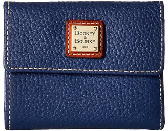 Dooney & Bourke - Pebble Leather New SLGS Small Flap Credit Card Wallet Wallet Handbags $98 thestylecure.com