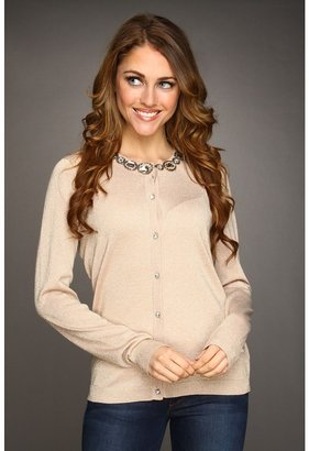 Jones New York L/S Embellished Cardigan (Bellini) - Apparel