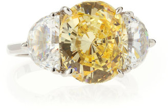 FANTASIA Oval Canary Cubic Zirconia Ring