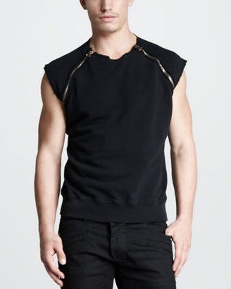 Balmain Pierre Sleeveless Sweatshirt