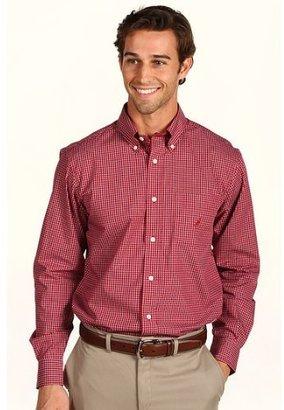 Nautica Men's Long Sleeve Wrinkle Resistant Plaid, Red, X-Large