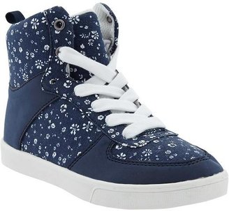 Old Navy Girls Printed Canvas High Tops