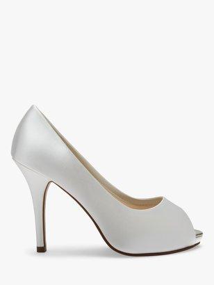 Rainbow Club Jennifer Satin Platform Peep-Toe Court Shoes, Ivory