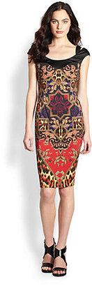 Just Cavalli Tapestry Print Jersey Dress