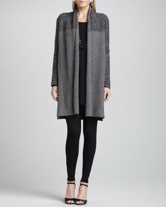 Eileen Fisher Shawl-Collar Long Cardigan, Petite