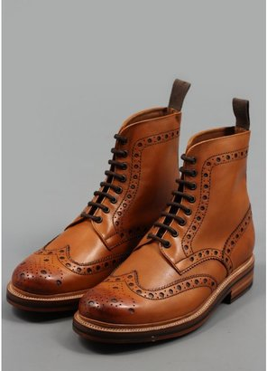 Grenson Fred Brogue Boots Tan