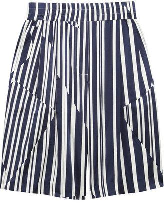 Thakoon Striped silk-blend shorts