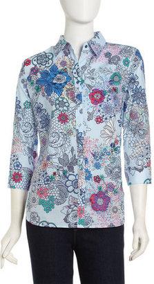Robert Graham Isadora Floral-print Shirt