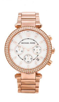Michael Kors Parker Watch in Rose. $275 thestylecure.com