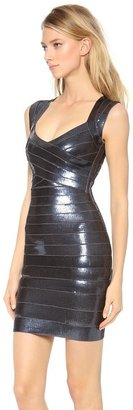 Herve Leger Sequined Sarai Dress