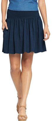 Old Navy Women's Smocked-Waist Crepe Skirts