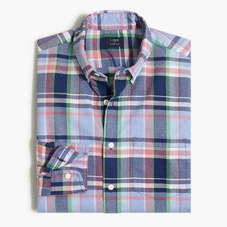 J.Crew Factory Factory summer plaid shirt