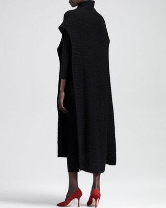 The Row Textured Cashmere-Silk Crewneck Sweater