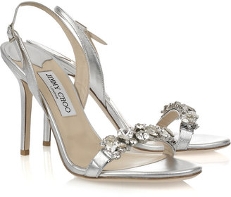 Jimmy Choo Lotus crystal-embellished leather sandals